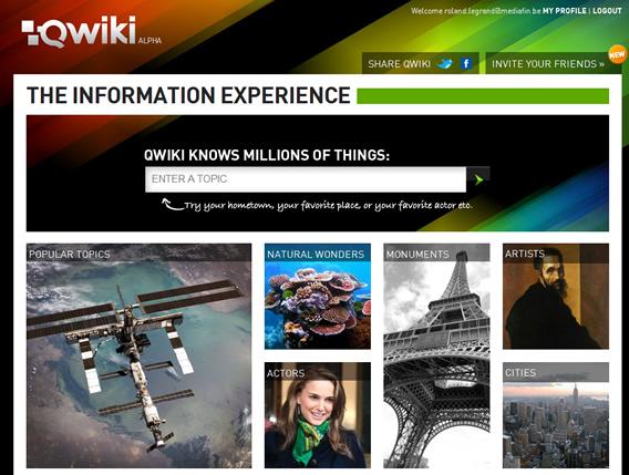 homepage qwiki